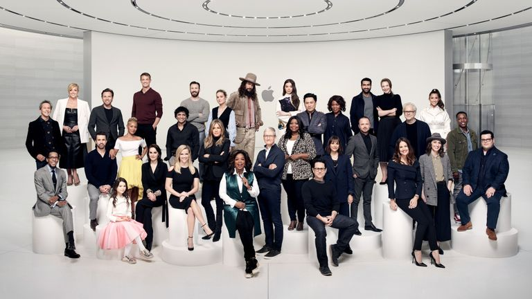 Apple's group portrait with some of Hollywood's leading talent and creators. Pic: Art Streiber