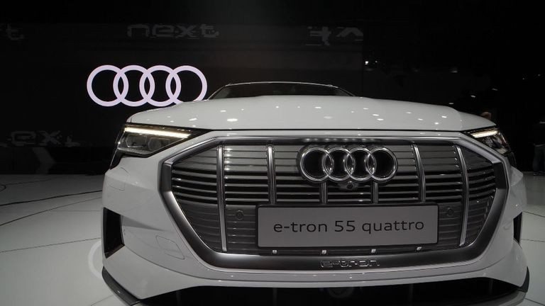 Audi only had electric cars on display at the Geneva Motor Show