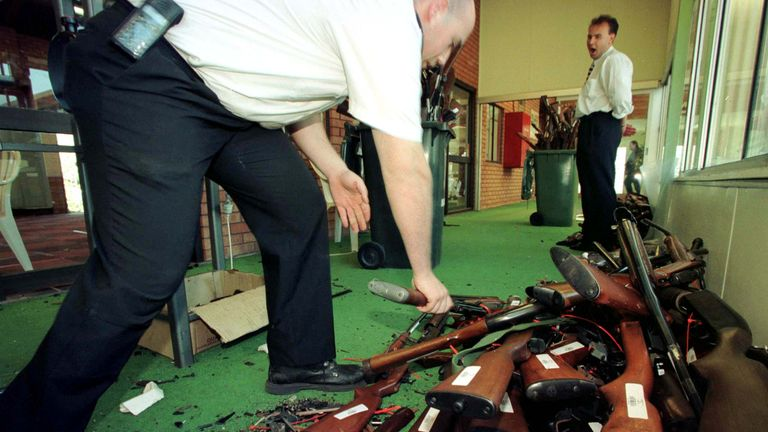 Australia banned many firearms after the Tasmanian Port Arthur massacre