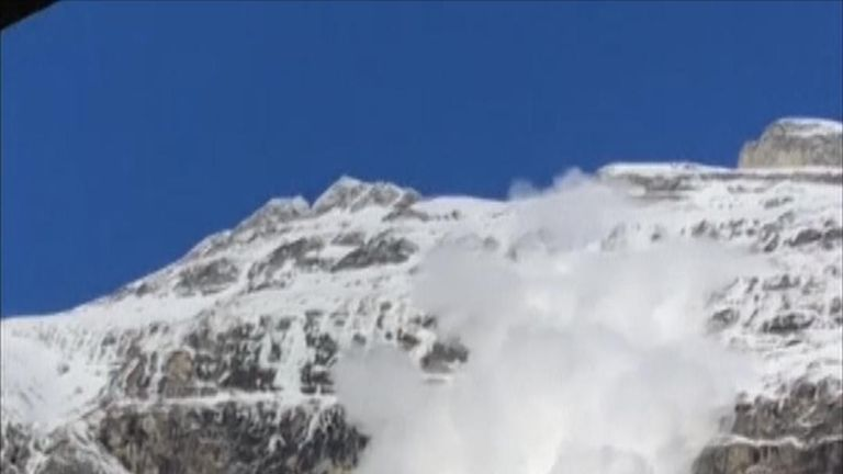 Sundal in Norway is hit by avalanche