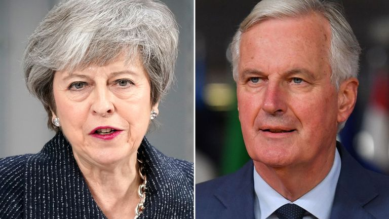 Mr Barnier said he proposed a 'legally binding interpretation' of the Brexit deal
