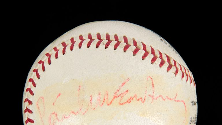 A baseball signed by The Beatles and given to Mike Murphy