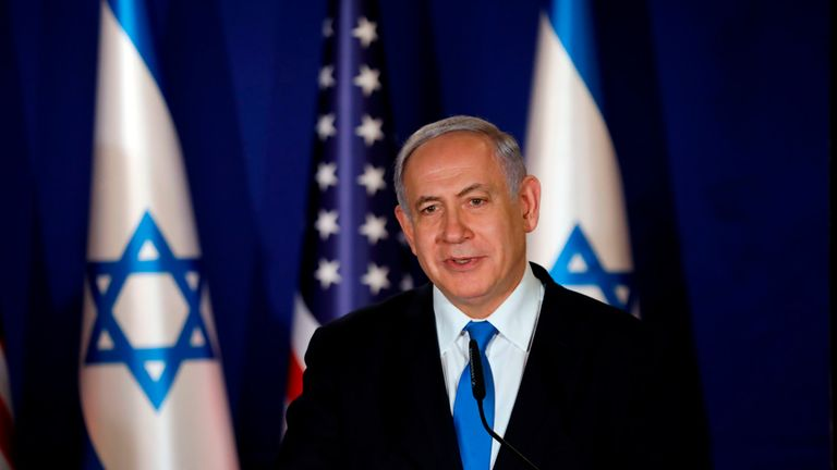 Benjamin Netanyahu is running a re-election campaign against a backdrop of corruption allegations and conflict on the Gaza border