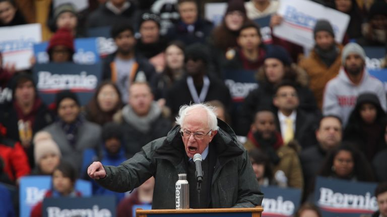 Bernie Sanders called for a 'political revolution' as he launched his presidential campaign in Brooklyn