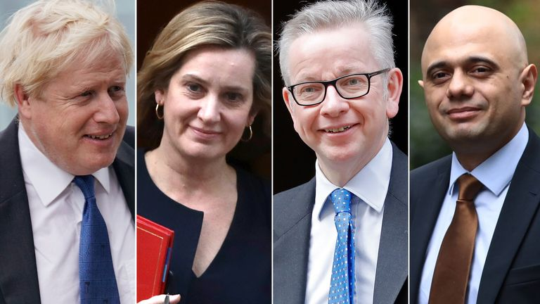Boris Johnson, Amber Rudd, Michael Gove, Sajid Javid
