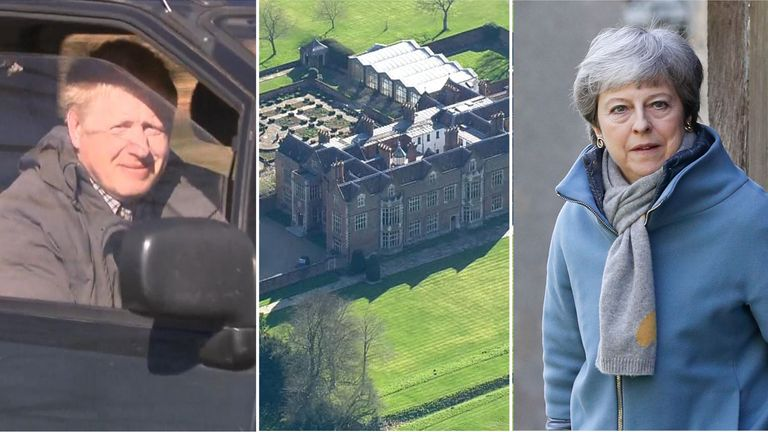 Boris Johnson is among those meeting Theresa May at Chequers