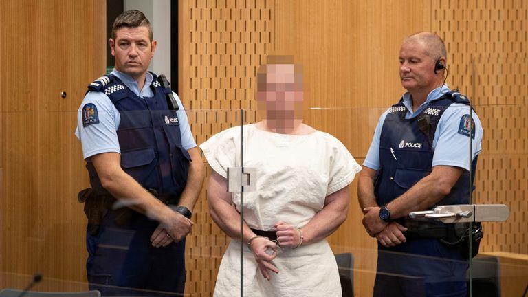 نتيجة بحث الصور عن Suspect in New Zealand mosque shootings makes court appearance