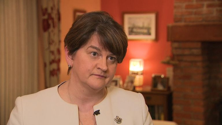 "DUP leader Arlene Foster says her party will not support May's deal while it ""poses a threat to the integrity of the UK.''"