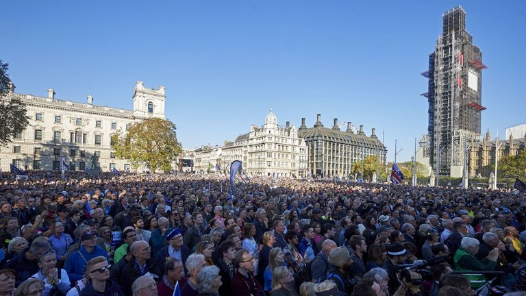 It's thought up to 700,000 people joined the last march