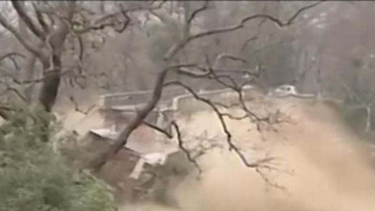 Bridge collapses during storm in Crete