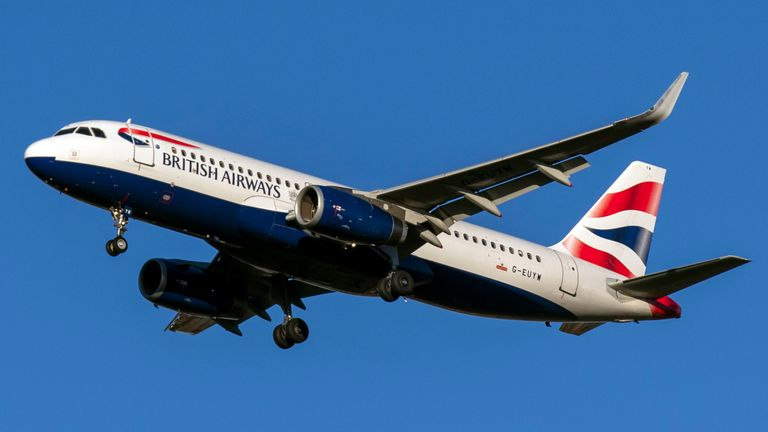 The BA flight was supposed to be heading to Dusseldorf. File pic