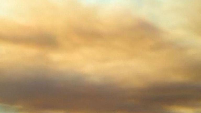 Bushfire smoke over Victoria, Australia
