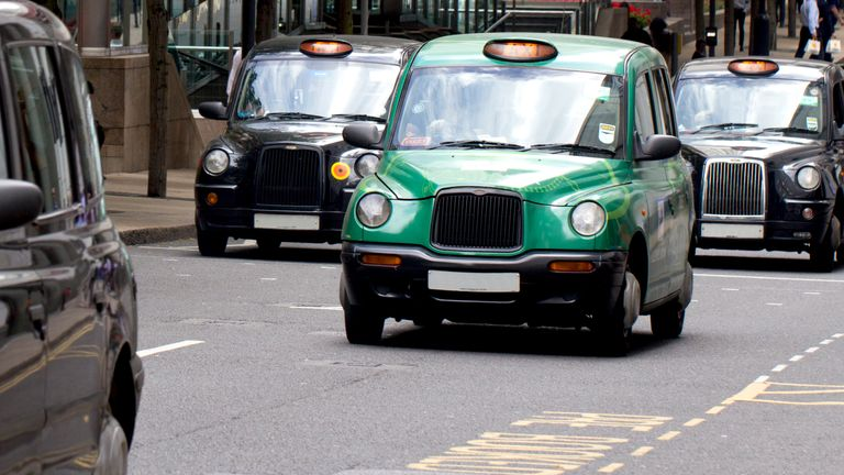 Black cabs are exempt from the congestion charge. File pic
