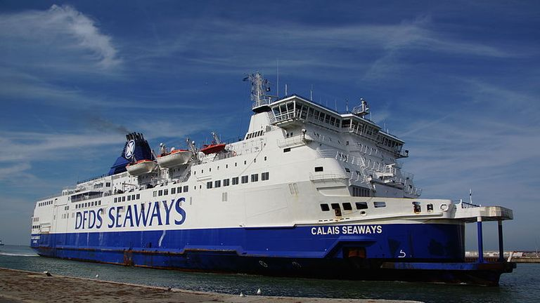 A file image of the MS Calais Seaway