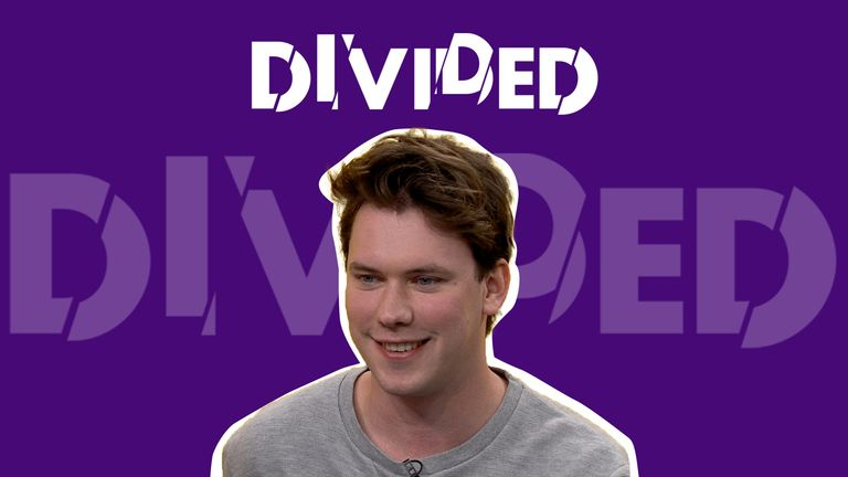 Sky News spoke with hard-right filmmaker Caolan Robertson for our new series Divided.