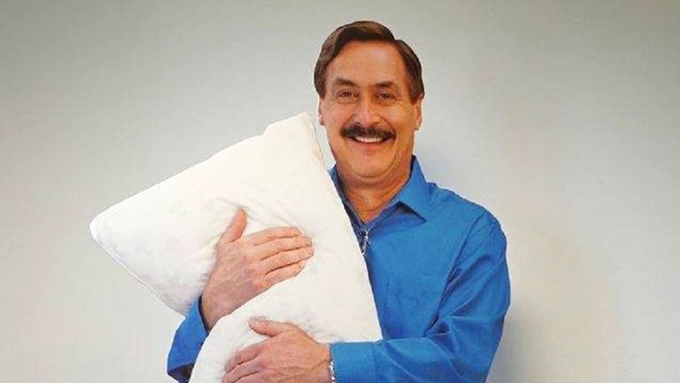 The cardboard cutout of millionaire and inventor Mike Lindell