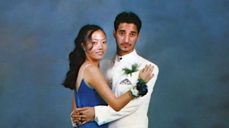 Adnan and Hae Min Lee at prom. Image from The Case Against Adnan Syed. Pic Pic: HBO/ Sky Atlantic/ NOW TV