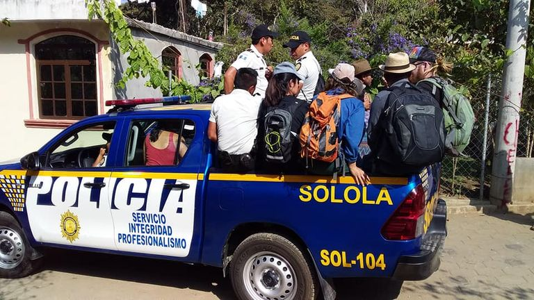 A search party look for the missing Briton in Guatemala. Pic: Find Catherine Shaw Facebook page