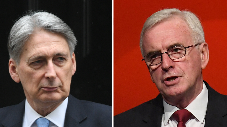 John McDonnell warns Hammond not to undermine confidence of the British people over DUP talks