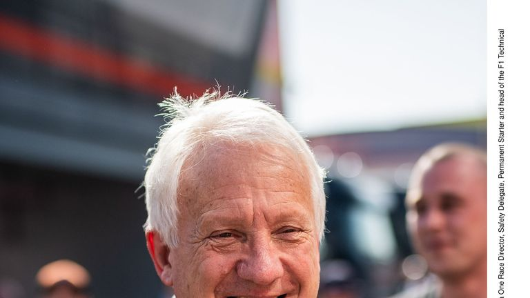 Charlie Whiting at the Circuit de Barcelona Catalunya in February