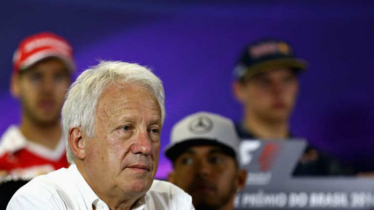 Charlie Whiting in a Drivers Press Conference in Sao Paulo, Brazil