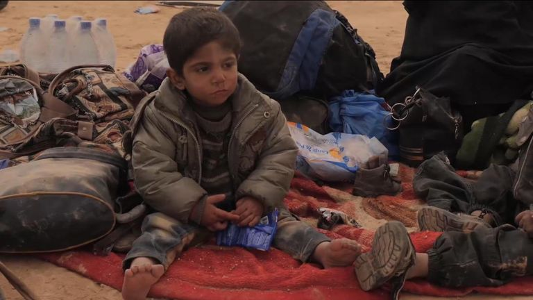 Child of IS mother in Syria