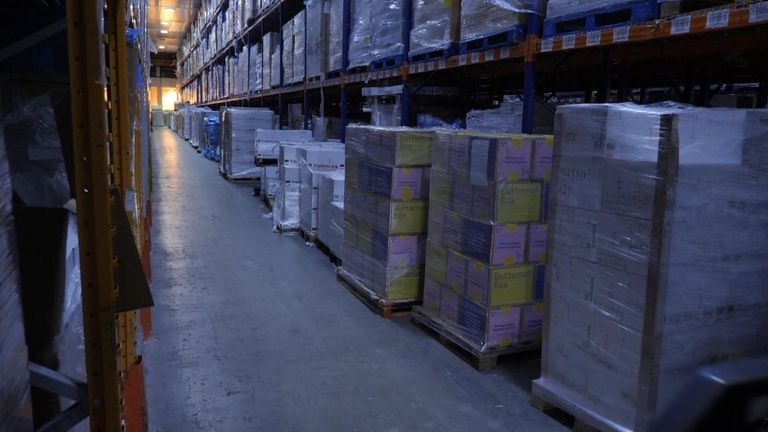 Storage facilities like this one are running at full capacity