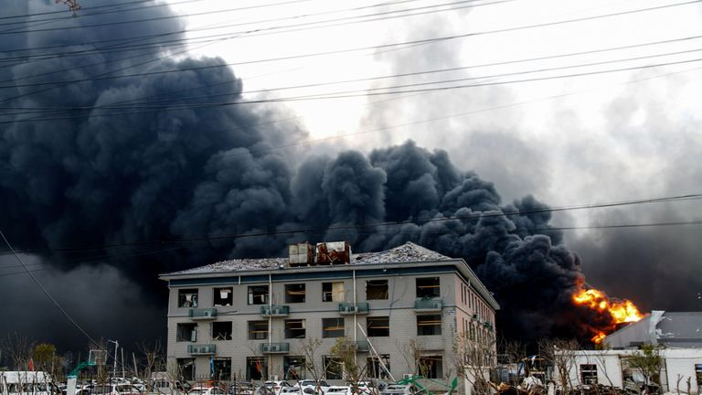 The explosion is one of the worst industrial accidents in recent years