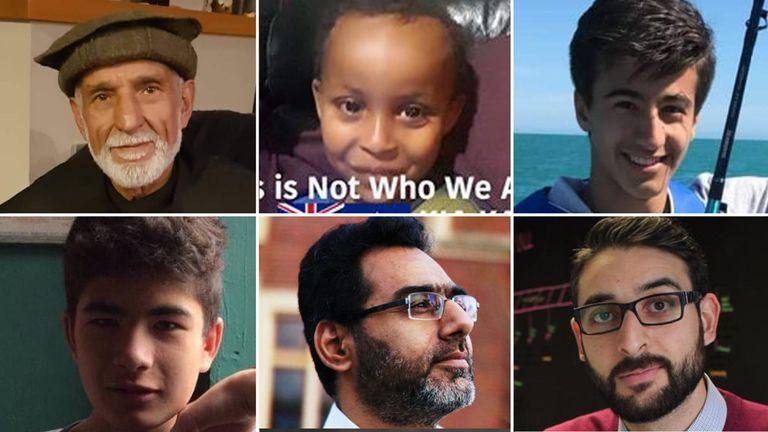 Feared victims (Clockwise from top left): Haji Daoud Nabi, Mucad Ibrahim, Hamza Mustafa, Atta Elayyan, Naeem Rashid, Sayyad Milne