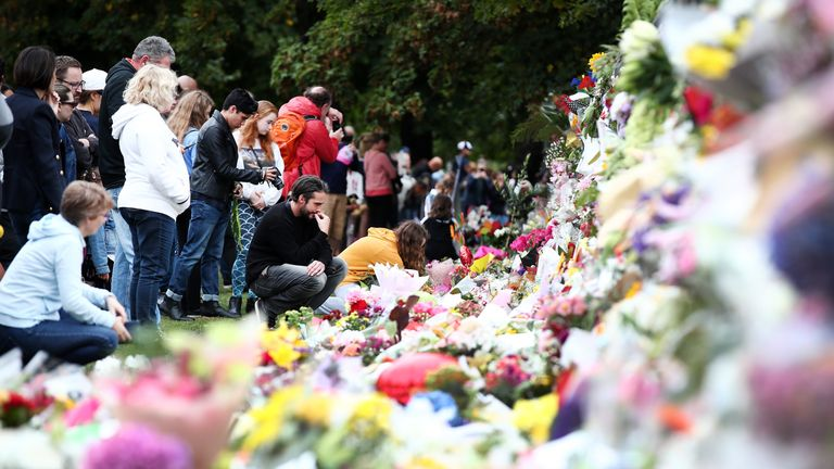 Flowers have lined the streets of Christchurch as the city comes to terms with the tragedy