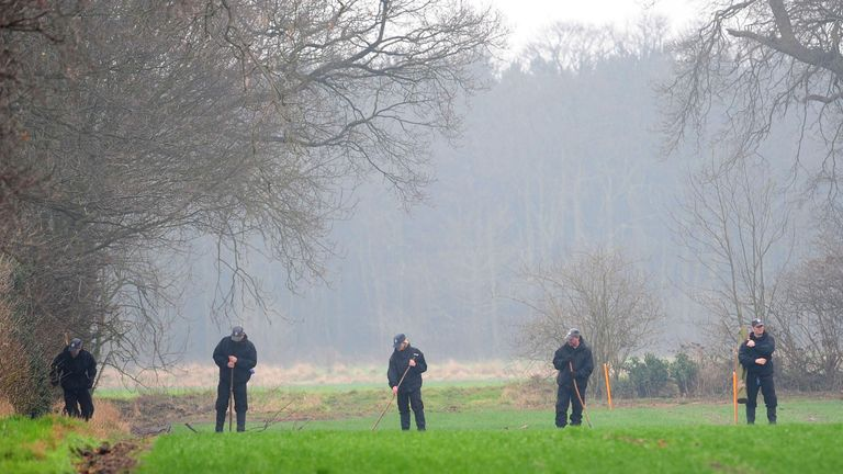 File photo dated 25/03/10 of North Yorkshire Police searching a field in the Outgang area of York, close to York University