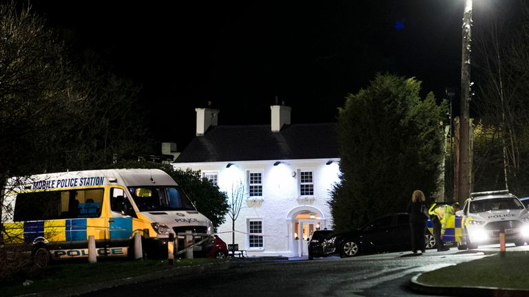 Greenvale Hotel in Cookstown Co. Tyrone in Northern Ireland where it is believed that two people have died at a party that was being hosted at the hotel on St Patrick's Day.