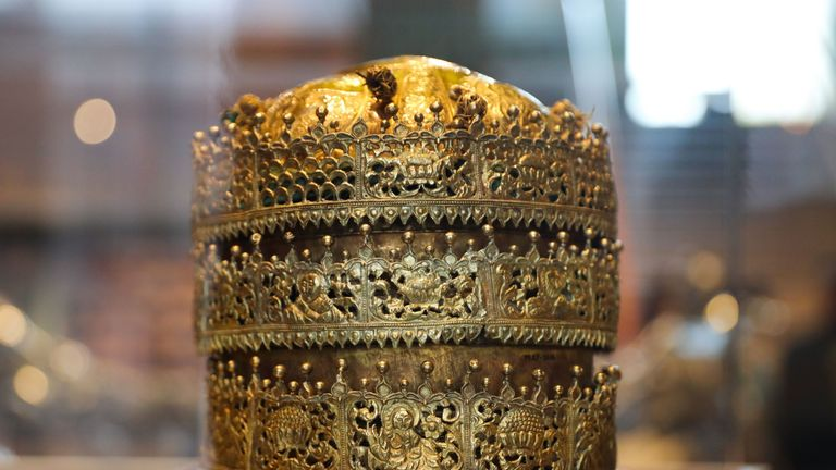 Ethiopia also called for a gold crown seized at the seige of Maqdala to be returned. Pic: DANIEL LEAL-OLIVAS/AFP/Getty Images