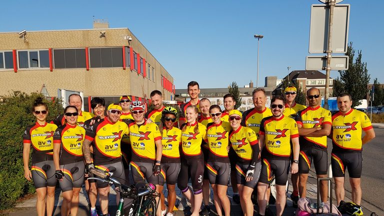 The group raises money for charity. Pic: Porn Pedallers