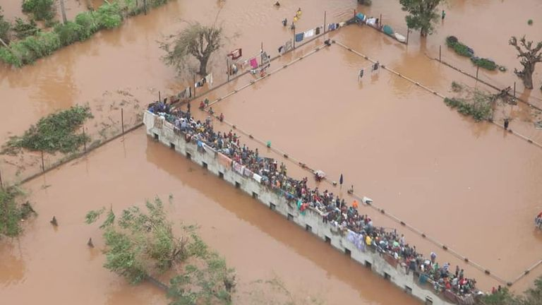 Flooding in Mozambique. Pic: INGC