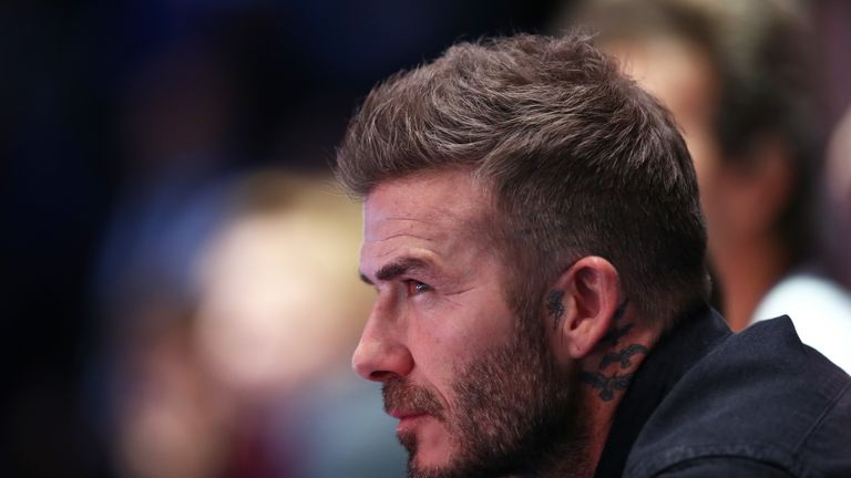 David Beckham apparently submitted a guilty plea by post