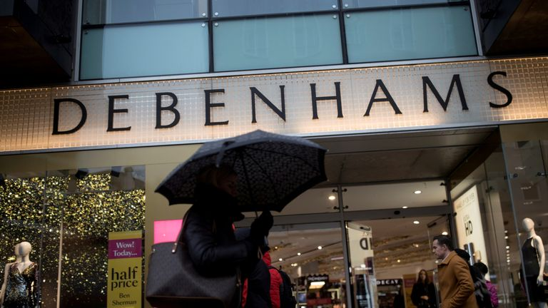 Debenhams department store on Oxford Street