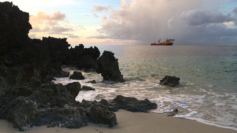 Nekton's Ocean Zephyr mothership from Aldabra island