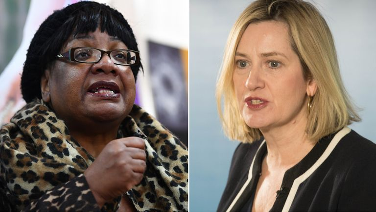 Diane Abbott and Amber Rudd