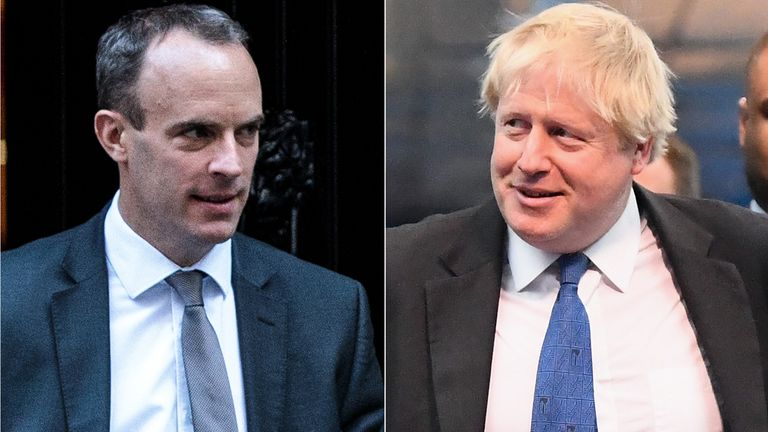 Dominic Raab and Boris Johnson