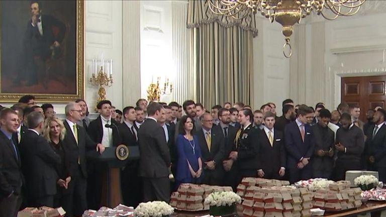Donald Trump serves up Big Macs at the White House again