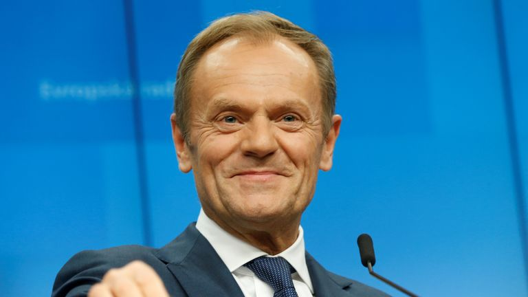 EU elections: European Council President Donald Tusk urges voters to back Change UK