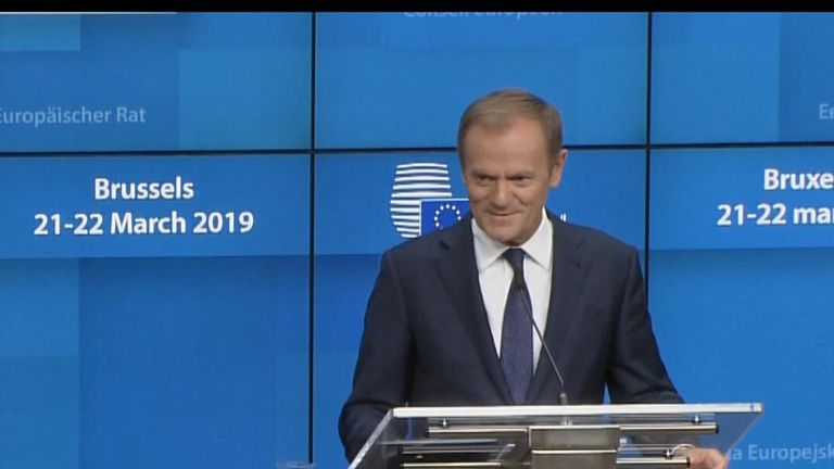 Donald Tusk tells Mark Stone he's more pro-British than him