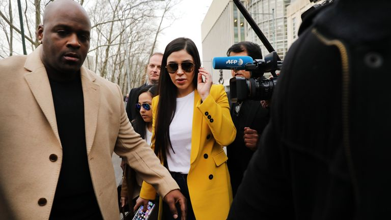 Emma Coronel Aispuro gained media attention for her outfit choices at El Chapo's trial