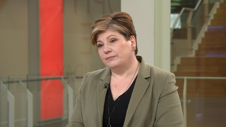 Emily Thornberry in the studio on Ridge on Sunday.