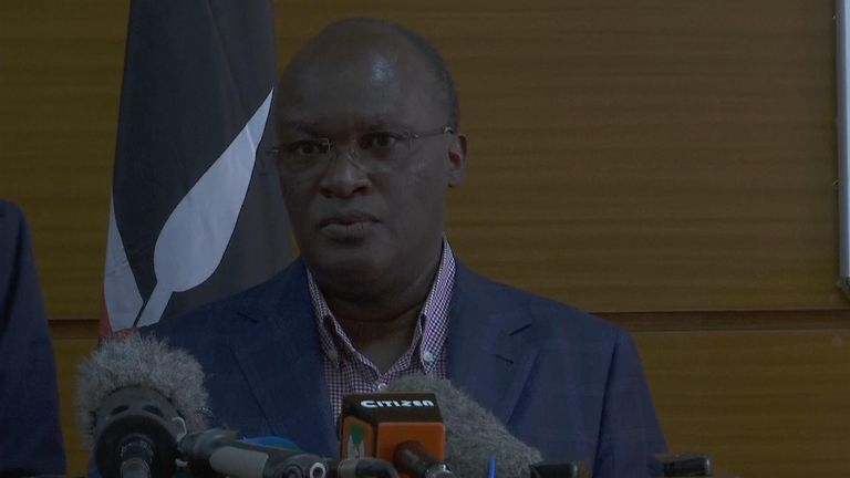 Kenya's transport secretary James Macharia holds a presser on the Ethionian Airlines plane crash.