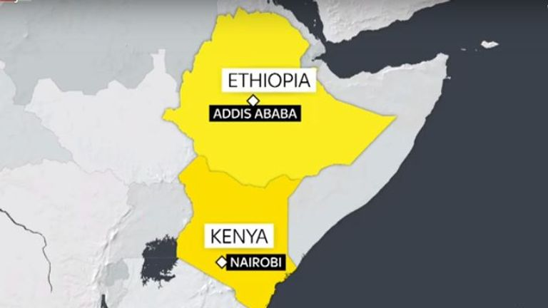 Ethiopian Airlines says it believes 149 passengers and eight crew members were on board a plane that crashed six minutes after taking off from Ethiopia's capital, Addis Ababa, on a flight to Nairobi.