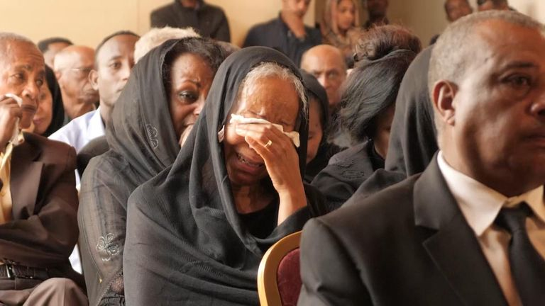 Mourners pay their respects to the crew of the doomed Ethiopia Airlines flight
