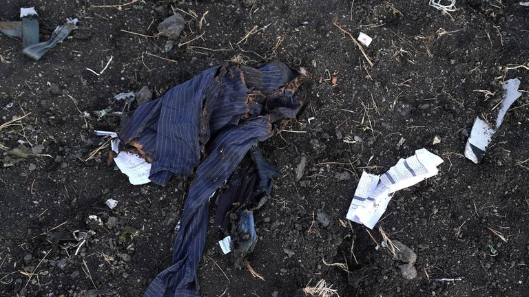A shirt belonging to one of the victims of the crash