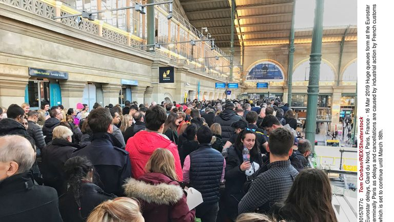 Passengers were facing delays of between two and three hours